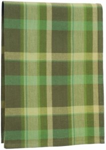 Art to Heart towel, green plaid