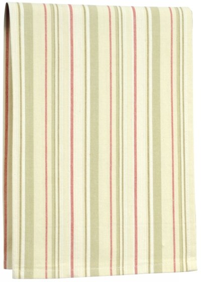 Art to Heart towel, green/red stripe