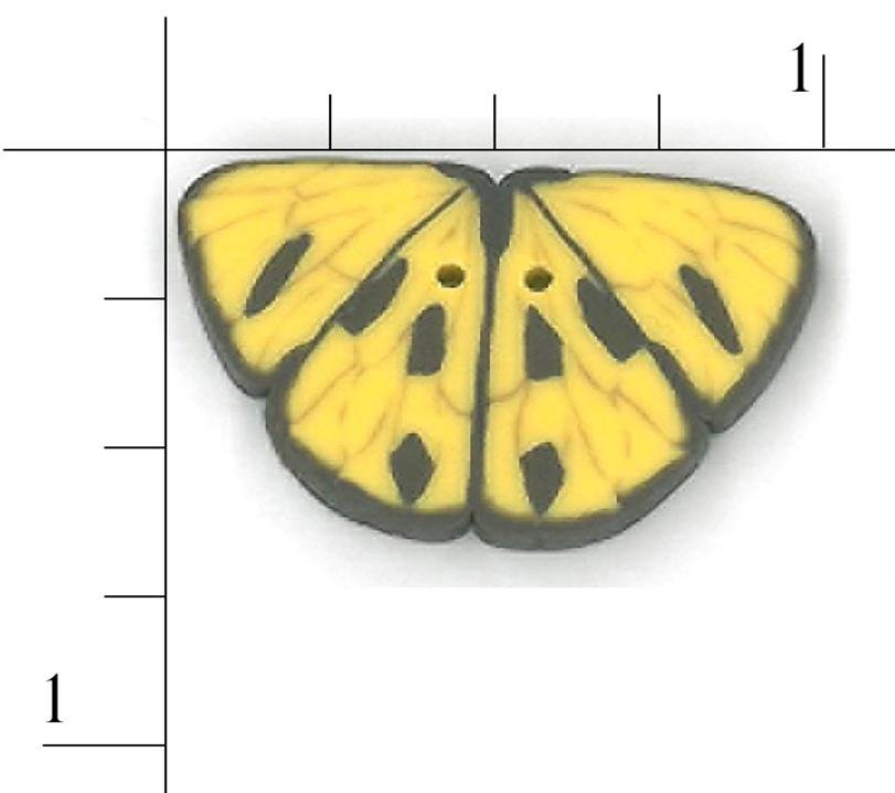 Butterfly Yellow Clay Button