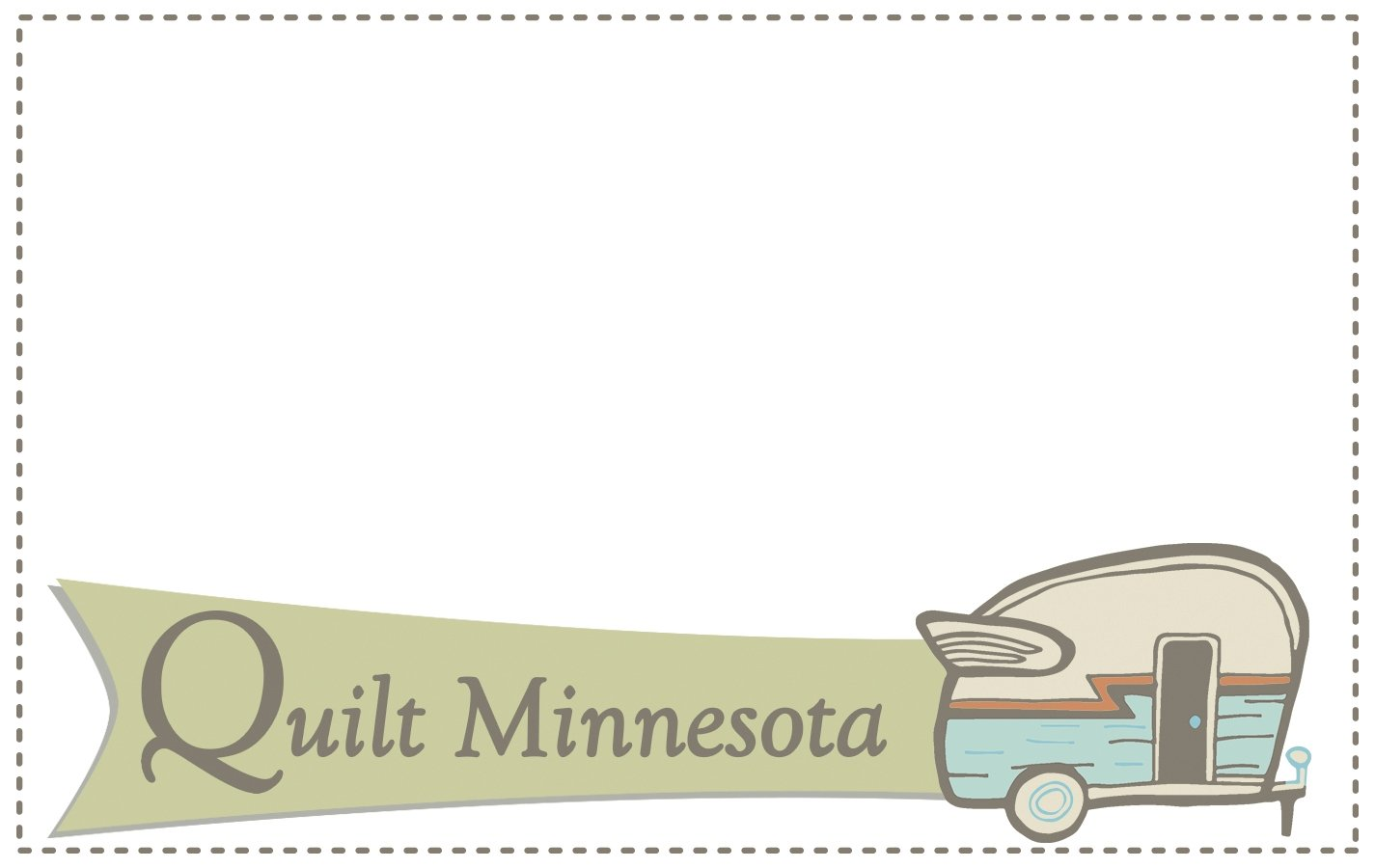 Quilt Minnesota 2016 Quilt Label, Camper
