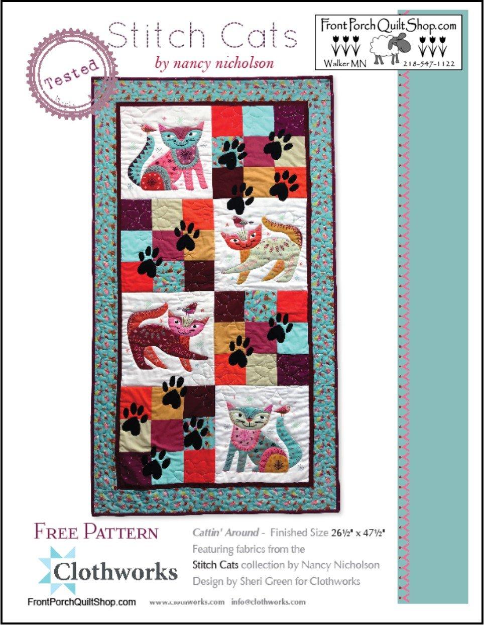 Stitch Cat Cattin' Around Free Downloadable Pattern