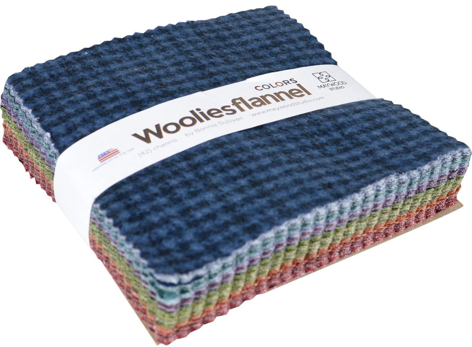 Woolies Flannel 5 Squares Multi