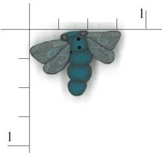 Dragonfly Clay Button