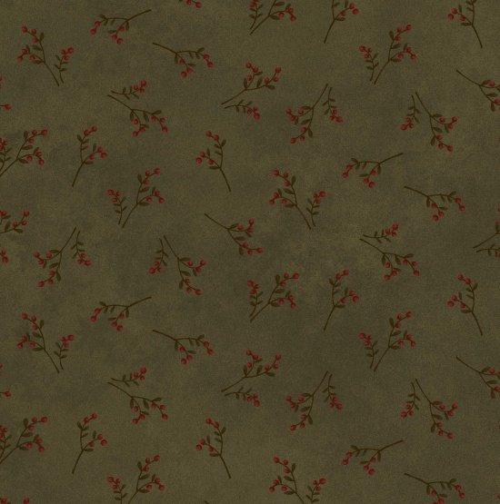 Folk Art Flannel, Sprigs Green