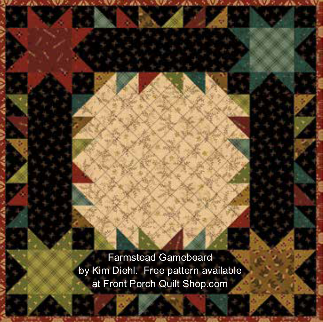 Farmstead Gameboard Free Quilt Pattern