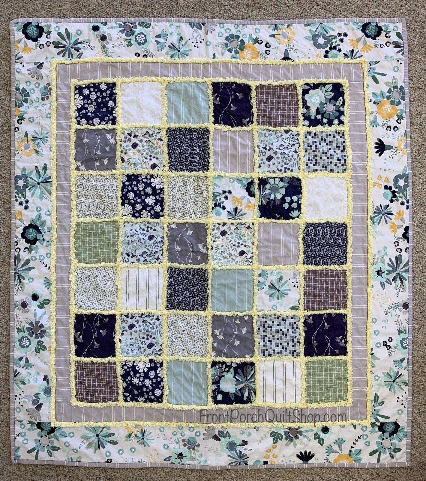 Charming Chenille Baby Quilt Secret Garden