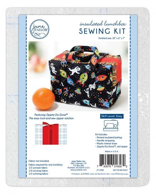 Insulated Lunchbox Sewing Tote, Zippity-Do-Done Red