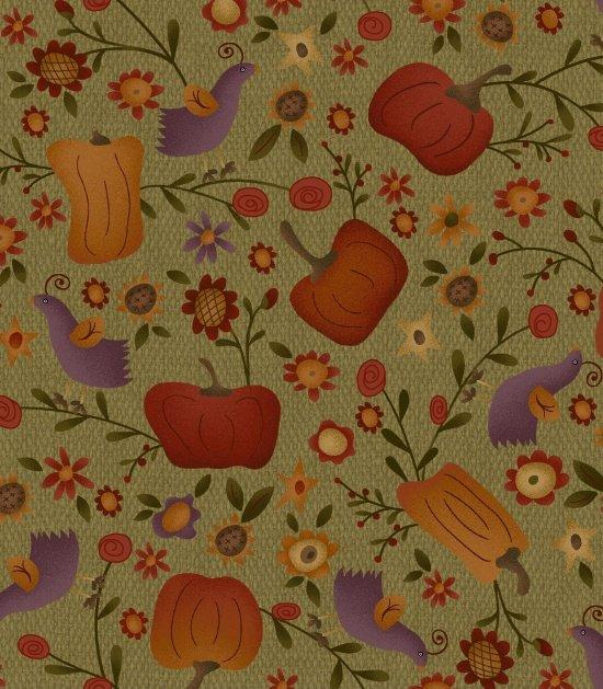 Autumn Song Pumpkin Patch Green