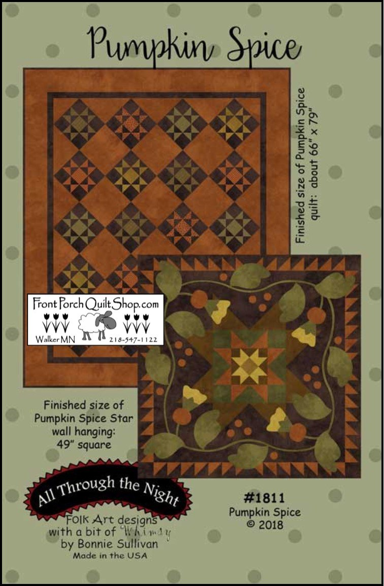 Pumpkin Spice Quilt Kit 66 x 79