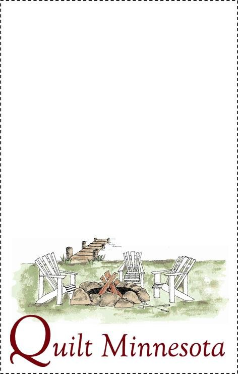 Quilt Minnesota 2015 Quilt Label, Campfire
