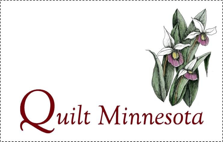 Quilt Minnesota 2015 Quilt Label, Lady's Slippers
