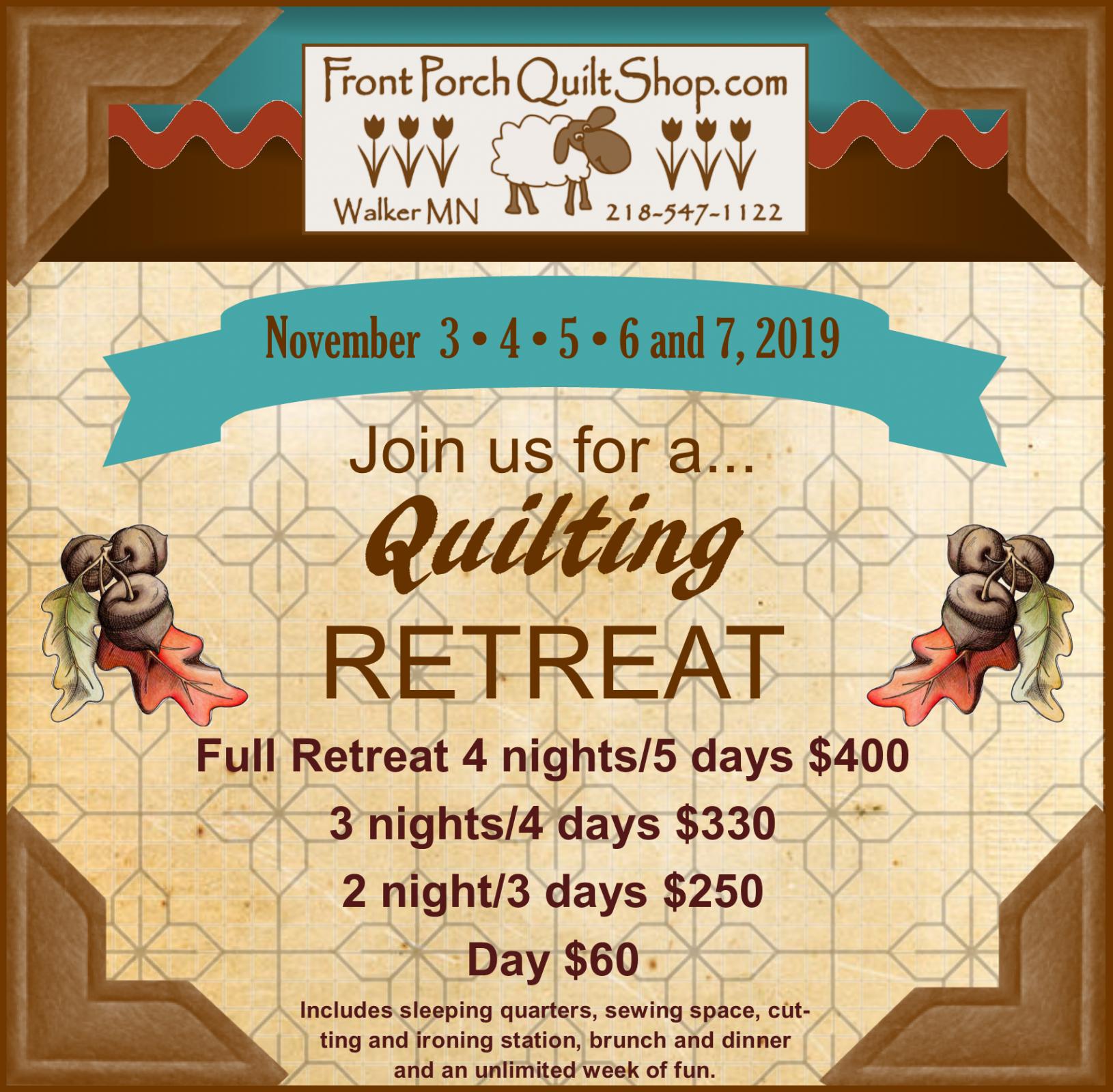 Quilt Retreat 2019