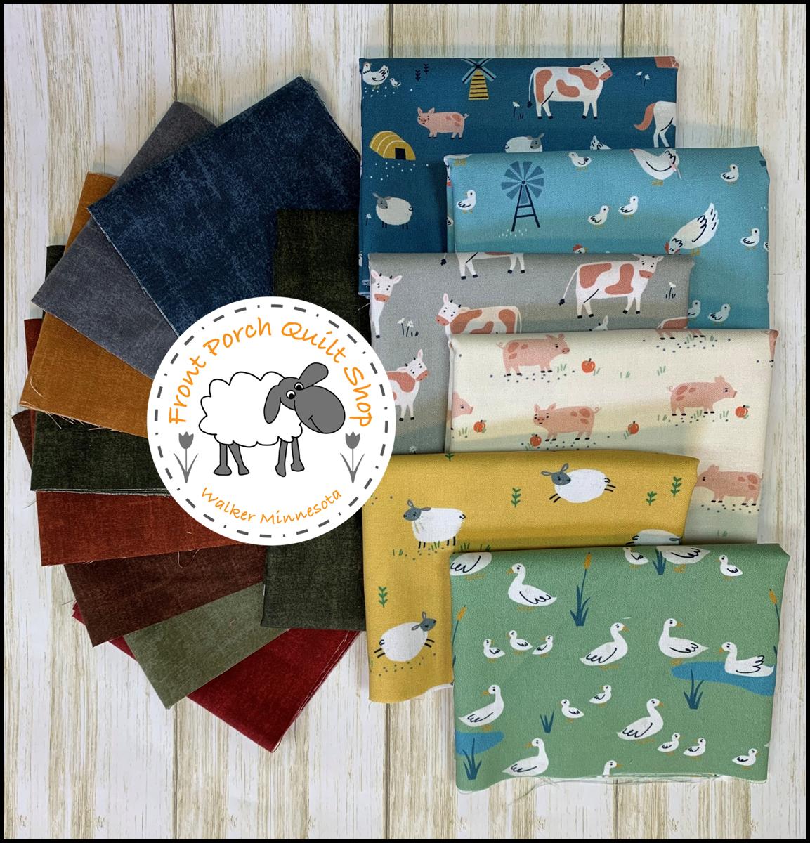 Quilt As You Go Savvy Stripes Farm Days Fabric Kit