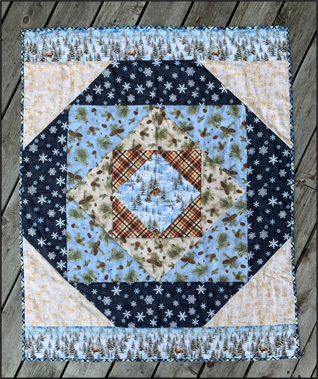 Quilt As You Go- Square in a Square Quilt Minnesota 2021 Kit