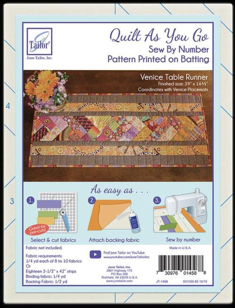 Quilt As You Go Table Runner Venice Kits