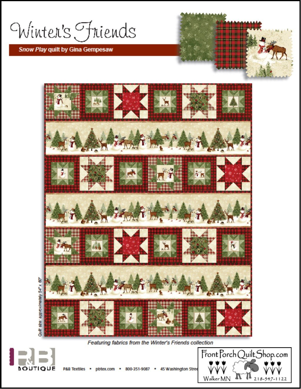 Winter Friends Free Downloadable Pattern