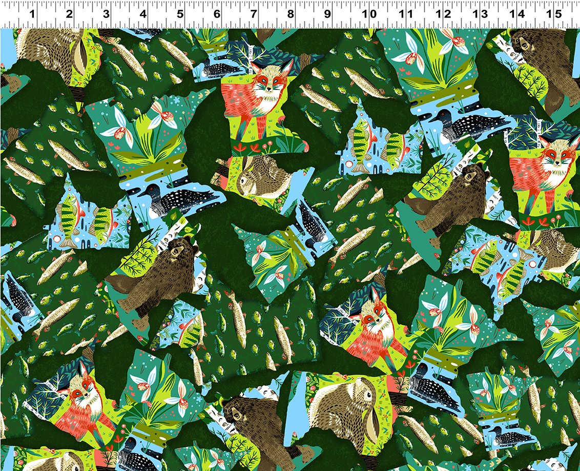 Quilt Minnesota 2020 Collage Forest