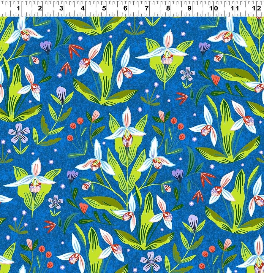 Quilt Minnesota 2020 Lady's Slipper Royal Blue