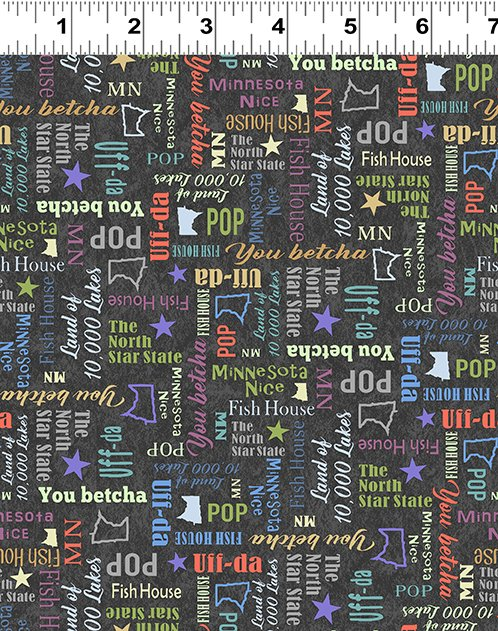 Quilt Minnesota 2020 Sayings Multicolor
