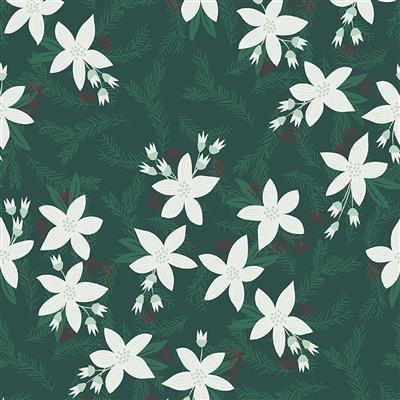 Yuletide Poinsettias Dark Forest