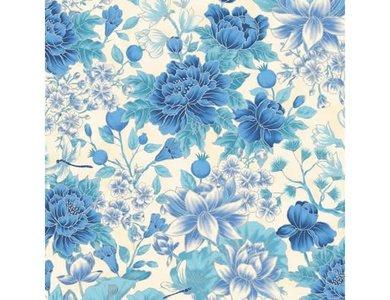 Floral Ivory Blue