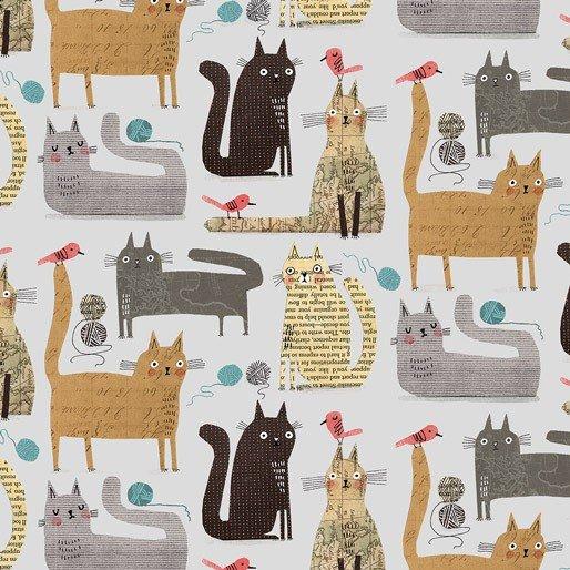 Cats at Play Grey