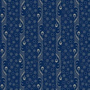 0728 0150 Paisley Stripe Blue