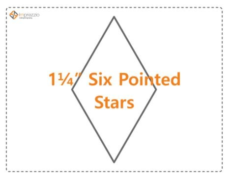 1 1/4 Inch 6 Pointed Star