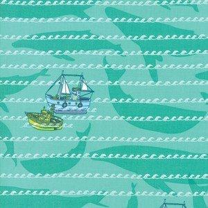 13323-13 Sea Green Boats
