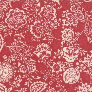 13850 11 Carmine Red Floral