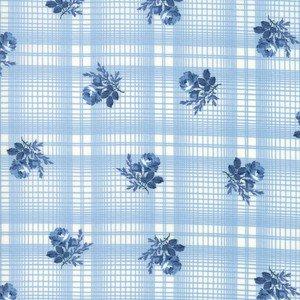 14895 21 Blue Printed Plaid