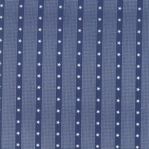 14898 15 Dark Blue Striped Star