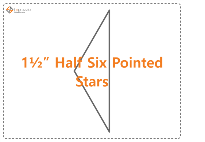 1 1/2Half Six Pointed Star