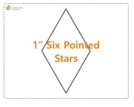 1 Inch 6 Pointed Star