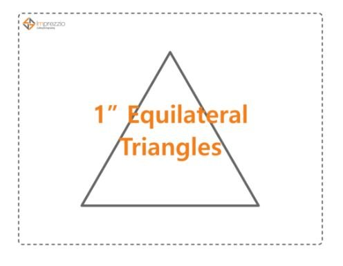 1 Inch Equilateral Triangle