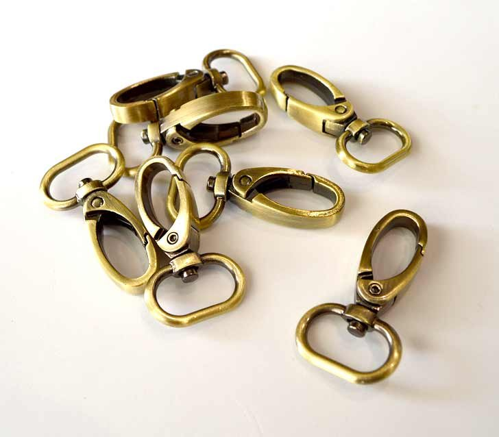 3/4 Brass Swivel Hook 2pack