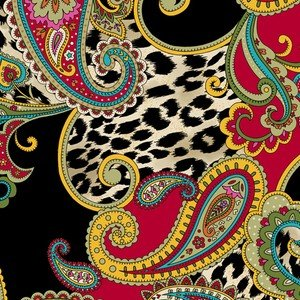 27974 R Red Paisley