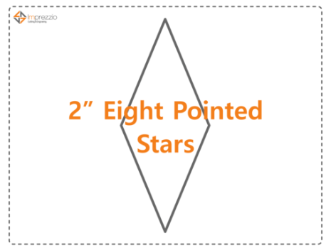 2 Inch Eight Pointed Star