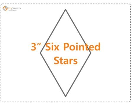 3 Inch 6 Pointed Star