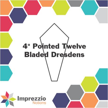 4 Inch Pointed Twelve Bladed Dresdens