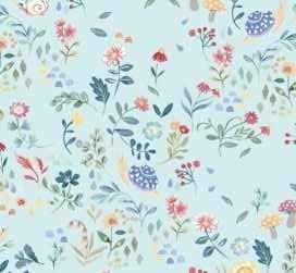 51162 5 Pale Blue Garden