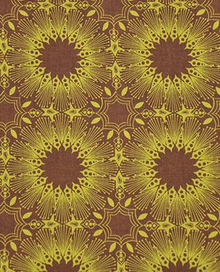 051 Brown Yellow Starburst