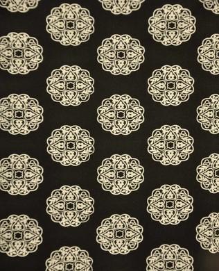 0569 Floral Geom Black