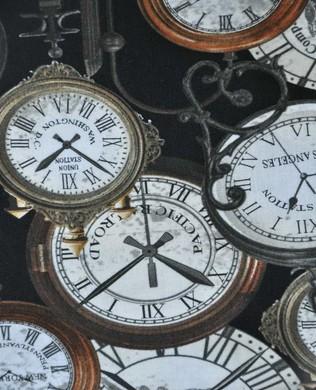 08505 12 Station Clocks Black