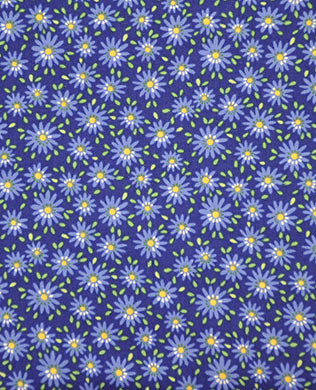 13002 Navy Small Flowers
