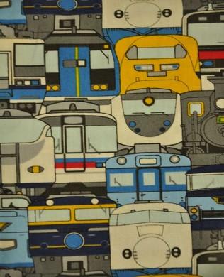 1505 10B Trains Blue Yellow