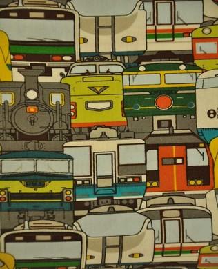 1505 10C Trains Green Orange