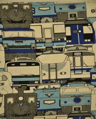 1505 10D Trains Blue White