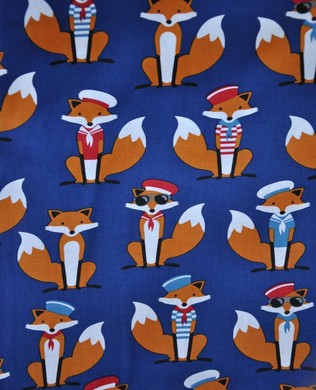 15634 9 Navy Large Fox