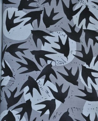 16353 184 Charcoal Birds